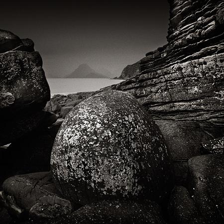 Elgol en noir et blanc. Sébastien Brière