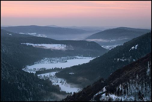 Lac de Longemer sous la neige. Vosges (88) ©Sébastien Brière