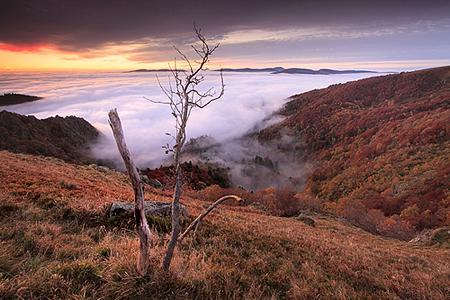 Aube sur le massif du Hohneck, Alsace©Sébastien Brière