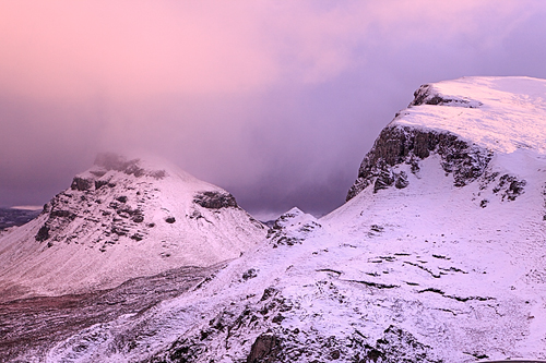 The Quiraing under the snow, Isle of Skye, Scotland©Sébastien Brière